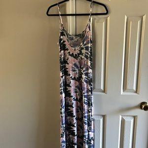 Monteau pastel tie dye maxi dress